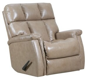 Alsache Recliner Lane Furniture Fabric: Genuine Leather Taupe, Reclining Type: Manual, Motion Type: Wallsaver with Heat & Massage