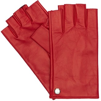 Mario Portolano Fingerless Leather Gloves