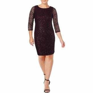 Jessica Howard JessicaHoward Women's 3/4 Sleeve Lace Shift Dress