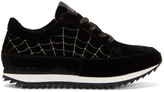 Charlotte Olympia Black Velvet 'Work It!' Sneakers