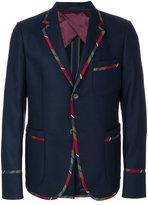 Gucci striped trim blazer