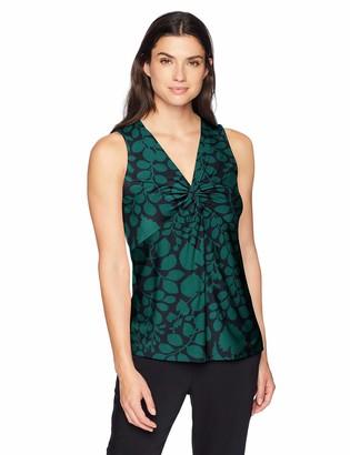 Lark & Ro Amazon Brand Women's Sleeveless Twist V-Neck Blouse