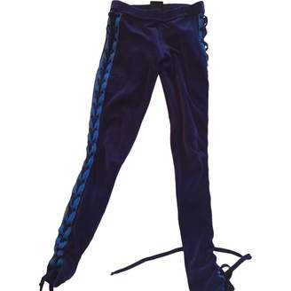 FENTY PUMA by Rihanna Blue Cotton Trousers for Women