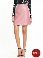Warehouse PU Pelmet Skirt - Pink