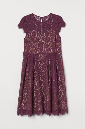 H&M H&M+ Calf-length Lace Dress