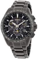 Seiko SSE079 Stainless Steel with Black Dial 45mm Mens Watch