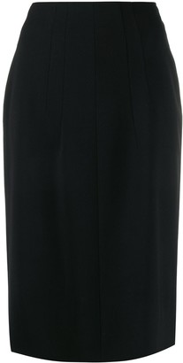 No.21 Pleated Details Pencil Skirt