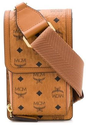 MCM Logo-Print Mini Bag