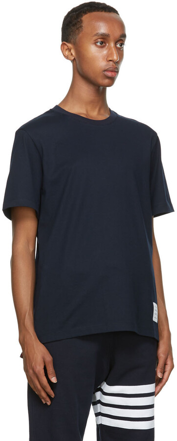 Thumbnail for your product : Thom Browne Navy Relaxed Fit T-Shirt