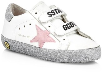 Golden Goose Baby's, Little Girl's & Girl's Old School Star Embroidered Leather Sneakers