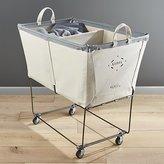 Crate & Barrel Steele ® Divided Canvas Sorter