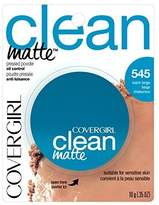 Cover Girl Clean Oil Control Pressed Powder, Warm Beige 545, 0.35 Ounce Pan (Pack of 2) by