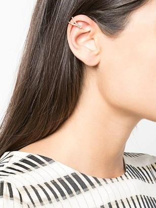 Anissa Kermiche Double Arc Diamond Cuff Earring Yellow Gold