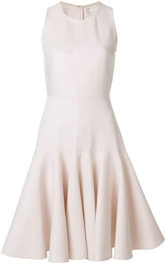 Maison Rabih Kayrouz flared frill-trim dress