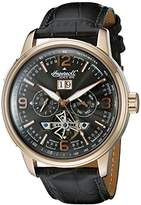 Ingersoll Unisex Automatic Watch with Black Dial Analogue Display and Black Leather Strap IN1222RGBK