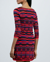 M Missoni Ladder-Stripe Long-Sleeve Dress