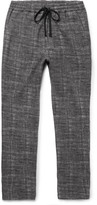 Barena Mélange Checked Woven Drawstring Trousers