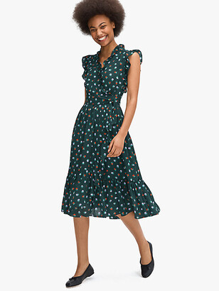 Kate Spade Blackberry Ruffle Wrap Dress