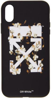 Off-White Black Cotton Arrows iPhone XR Case