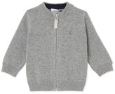 Petit Bateau Baby boys cardigan in cotton and wool