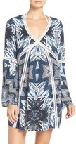 Red Carter Women's Print Cover-Up Caftan