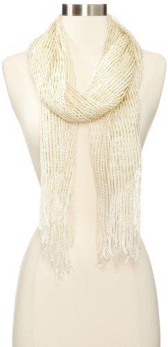 Collection XIIX Women's Lurex Net Wrap Scarf
