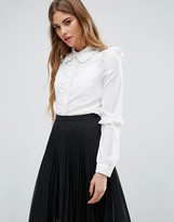 Fashion Union Ruffle Placement Shirt