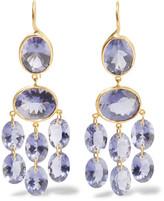 Marie Helene De Taillac Marie-Hélène de Taillac - Chandelier 22-karat Gold Iolite Earrings - one size