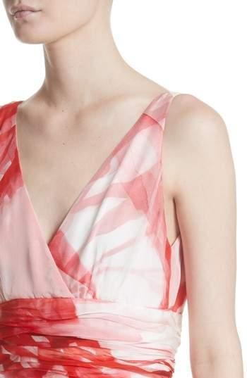 Naeem Khan Women's Print Silk Chiffon Gown