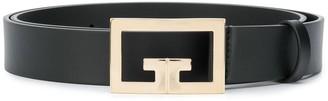 Givenchy Logo-Plaque Leather Belt