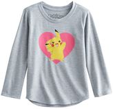 Girls 4-6x Pokemon Pikachu Heart Tee
