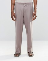 Asos Wide Leg Suit Pant In Pink