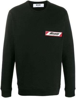 MSGM Logo Patch Sweatshirt