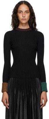 Lanvin Navy Ribbed Crewneck Sweater