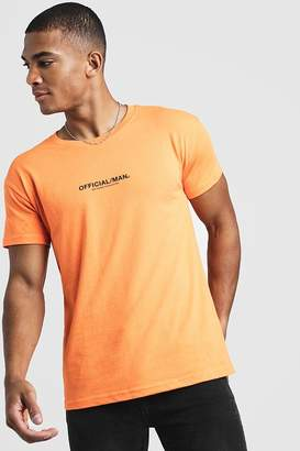 boohoo MAN Official Fitted T-Shirt In Neon