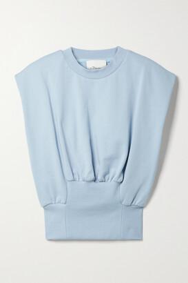 3.1 Phillip Lim - Gathered Cotton-jersey Tank - Blue