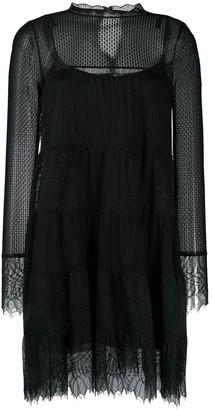 AllSaints Briella lace mesh dress