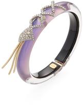 Alexis Bittar Crystal Encrusted Lattice Lace Fringe Cuff Bracelet