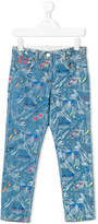 Stella McCartney colourful print jeans