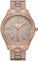 JBW Women's Cristal Diamond 39mm Swiss Quartz Rose -Tone Dial Watch J6346b
