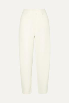 Totême Novara Drill Straight-leg Pants - Cream