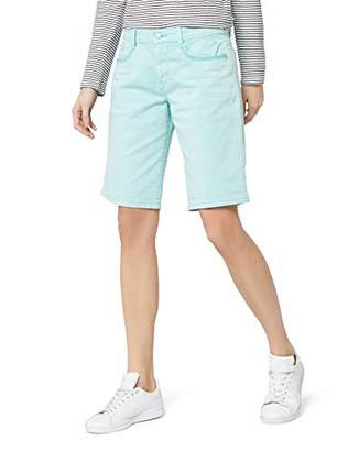 S'Oliver Women's 04.899.74.4822 Bermuda Shorts, (Blue Green 6110), UK 8
