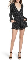 Lovers + Friends Women's Plaid Romper