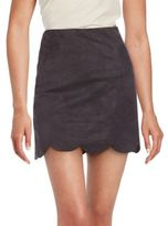 Saks Fifth Avenue RED Solid Scalloped Skirt