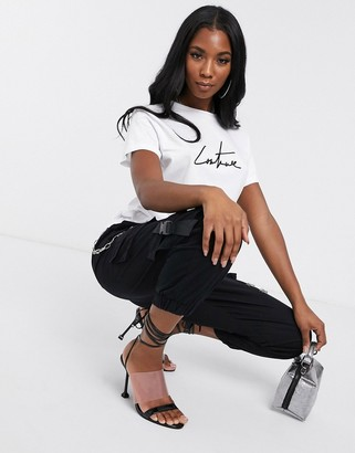 Couture The Club motif tee in white