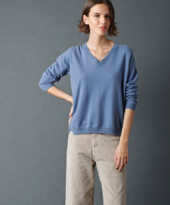 Indi & Cold - Wool and Cashmere Jumper - Azul - Small | wool | cashmere | azul - Azul