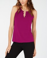 INC International Concepts Inc Petite Ring-Hardware Sleeveless Top, Created for Macy's