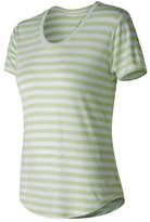 New Balance Women's WT71560 Stripe Scoop Neck Tee