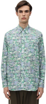 Marni Plastic Bottle Print Cotton Poplin Shirt