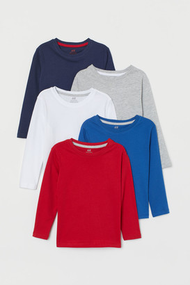 H&M 5-pack Jersey Shirts - Red